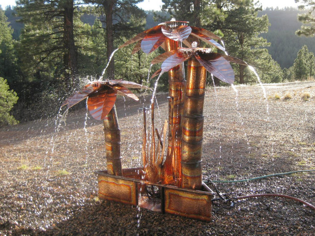 Copper Fountains -  Custom Palm Trees